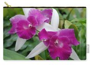 Purple White Orchids Carry-all Pouch