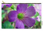 Purple Wildflowers Macro 1 Carry-all Pouch
