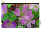 Purple Wildflowers Macro 3 Carry-all Pouch