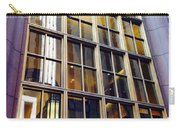 Chicago Golden Purple Window Panes Carry-all Pouch