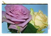 Purple With Yellow Carry-all Pouch