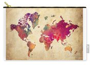 Purple World Map Watercolor Print  Carry-all Pouch
