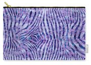 Purple Zebra Print Carry-all Pouch