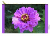 Purple Zinnia  Carry-all Pouch