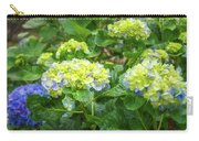 Purplea And Yellow Hydrangea Flowers Carry-all Pouch