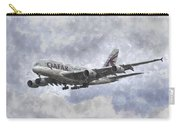 Qatar Airlines Airbus And Seagull Escort Art Carry-all Pouch