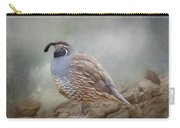 Quail On The Rocks Carry-all Pouch