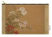 Quail Under Autumn Flowers Carry-all Pouch