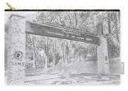 Quantico Welcome Graphite Carry-all Pouch by Betsy Hackett