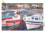 Quay On The Island Of Crete Carry-all Pouch