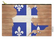 Quebec Rustic Map On Wood Carry-all Pouch