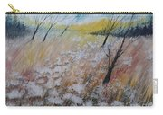 Queen Anne's Lace, Gouache Painting Carry-all Pouch