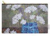 Queen Anne's Lace In Blue Vase Carry-all Pouch