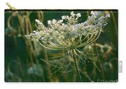 Queen Anne's Lace In Green Horizontal Carry-all Pouch