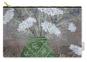 Queen Anne's Lace In Green Vase Carry-all Pouch
