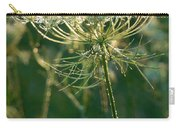 Queen Anne's Lace In Green Vertical Carry-all Pouch