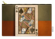 Queen Of Spades In Wood Carry-all Pouch