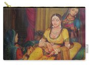 Queen Princess Sitting  Dressing From Her Maids Kaneej  Royal Art Oil Painting On Canvas Carry-all Pouch