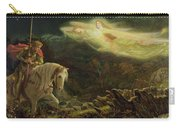 Quest For The Holy Grail Carry-all Pouch by Arthur Hughes