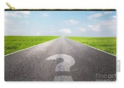 Question Mark Symbol On Long Empty Straight Road Carry-all Pouch