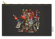 Quetzalcoatl In Human Warrior Form - Codex Borgia Carry-all Pouch