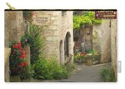 Quiet Lane In St Cirq I France Carry-all Pouch