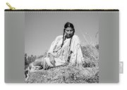 Quiet Time In Black And White Carry-all Pouch