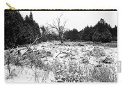 Quiet Winter Black And White Carry-all Pouch