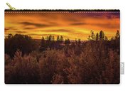 Quilted Orange Skies Carry-all Pouch