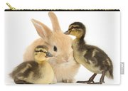Rabbit And Ducklings Carry-all Pouch