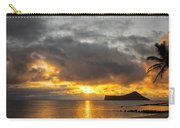 Rabbit Island Sunrise - Oahu Hawaii Carry-all Pouch by Brian Harig