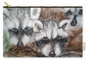 Raccoon Babies By Christine Lites Carry-all Pouch by Allen Sheffield