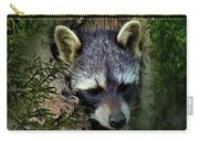 Raccoon In A Log Carry-all Pouch