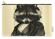 Raccoon Portrait, Animals In Clothes Carry-all Pouch
