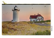 Race Point Light Cape Cod Square Carry-all Pouch