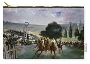 Races At Longchamp Carry-all Pouch by Edouard Manet