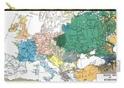 Racial Map Of Europe Circa 1923 Carry-all Pouch