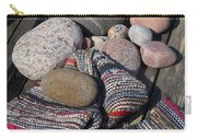 Rag Rugs With Stones And The Dock 3 Carry-all Pouch