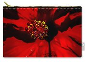 Raging Red Hibiscus Carry-all Pouch