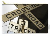 Rail Road Sign Carry-all Pouch