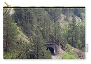 Railroad And Tunnels On Mountain Carry-all Pouch