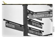 Railroad Directions_bw Carry-all Pouch