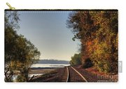 Railroad Track By The Mississippi  Carry-all Pouch