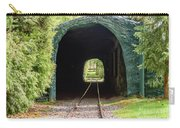 The Railway Passing Through The Tunnel To Meet The Light Carry-all Pouch