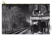 Railway 2 Black And White Carry-all Pouch