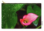 Rain Coated Pink Calla Lily Carry-all Pouch