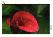 Rain Coated Red Anthurium Carry-all Pouch
