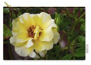 Rain Coated Yellow Rose Carry-all Pouch