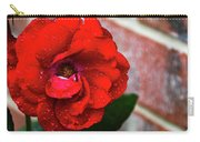 Rain Covered Red Rose Carry-all Pouch