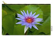 Rain Drenched Blue Lotus In Grand Cayman Carry-all Pouch